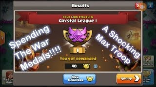 Spending Our War League Medals! Th12 Gameplay! Maxing Out Troops/Buildings (Clash Of Clans)