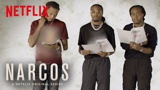 Narcos Mexico Migos Read Scripts From The New Episodes Netflix