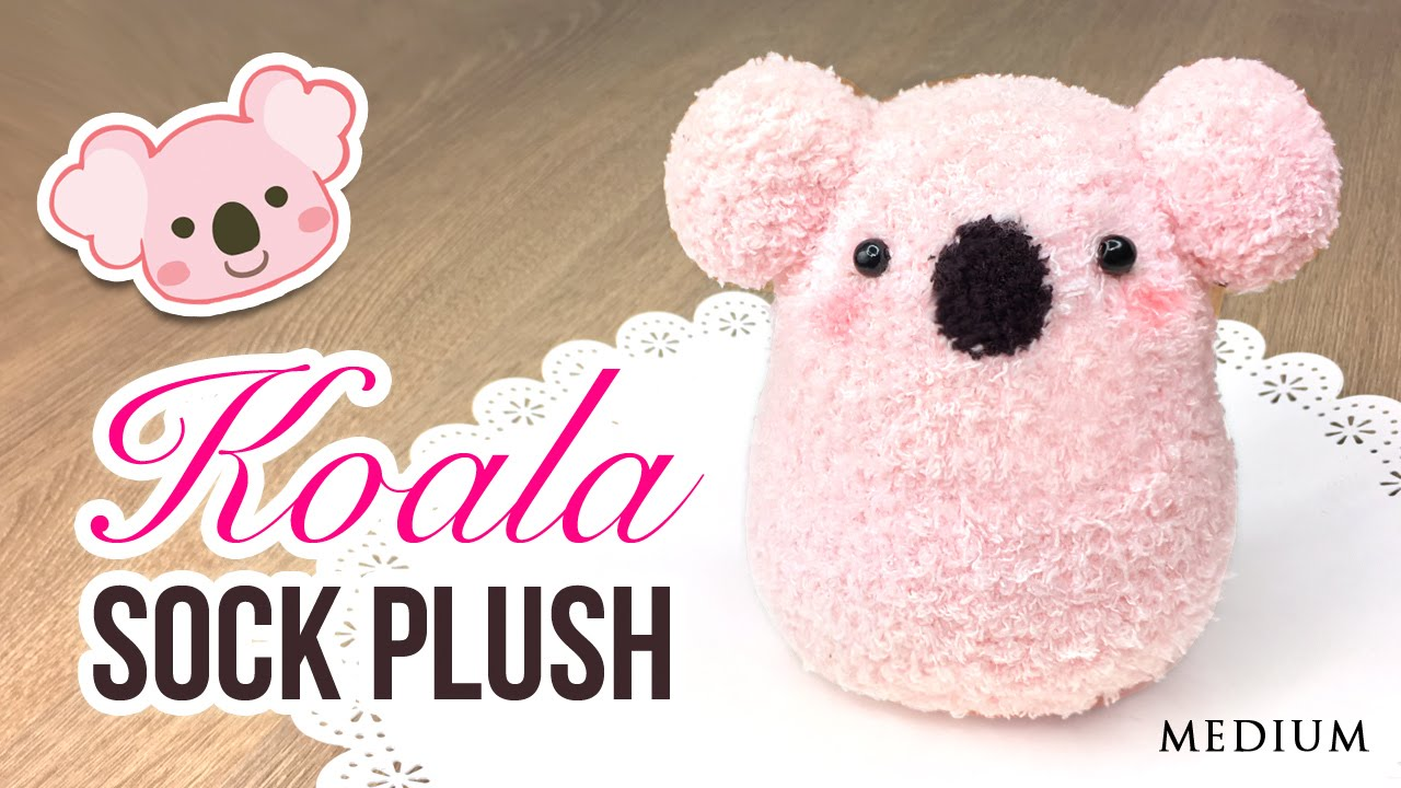 Diy Koala Plush Make A Cute Diy Toy Using Socks Youtube