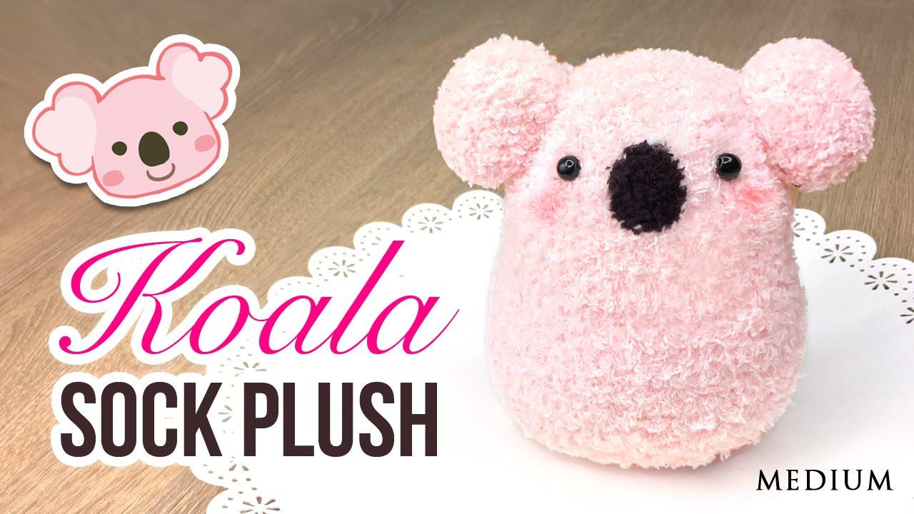 Diy Koala Plush Make A Cute Diy Toy Using Socks Youtube