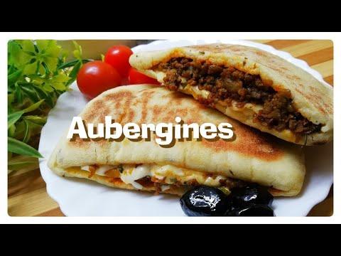 recette-pain-farcis-aux-aubergines-cuits-à-la-poêle-/-eggplant-recipe