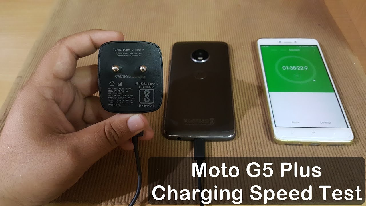Moto G5s Plus/G5 Plus Charging Speed Test with Turbo Charger : Quick