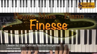 Bruno Mars - Finesse Easy Piano Tutorial/Keyboard Lesson FREE Sheet Music NEW Song Cover 2016