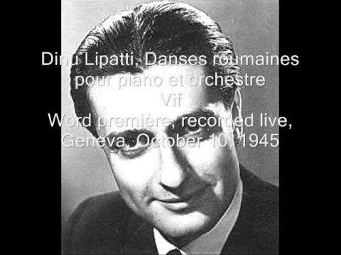 Lipatti, Danses roumaines pour piano et orchestre (1/3)