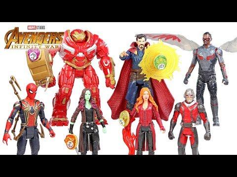 "Avengers Infinity War Series 2 w/ Iron Spider Hulkbuster & Ant-Man Basic 6"" Figures Infinity Stone"
