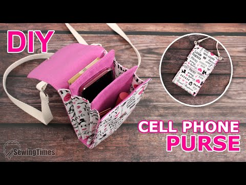 DIY CELL PHONE PURSE BAG | Lovely Crossbody Bag Tutorial [sewingtimes]