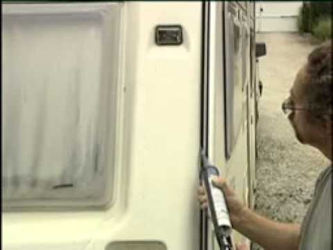 Mastic joint bateau et caravane youtube for Reparer fenetre