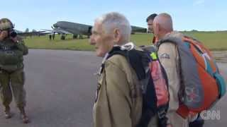 WWII veteran relives Normandy jump world 2014 06 06 D Day the last jump