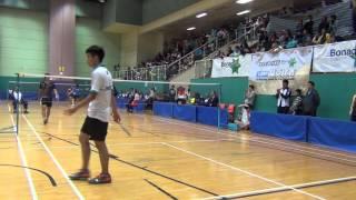 2014/15 全港學界精英羽毛球比賽 男單決賽 梁嘉祐 鄧凱傑