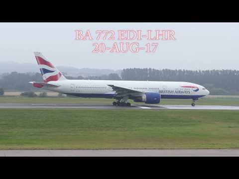 BA Shuttle EDI-LHR B772 piloted by Nigel [4K/UHD]