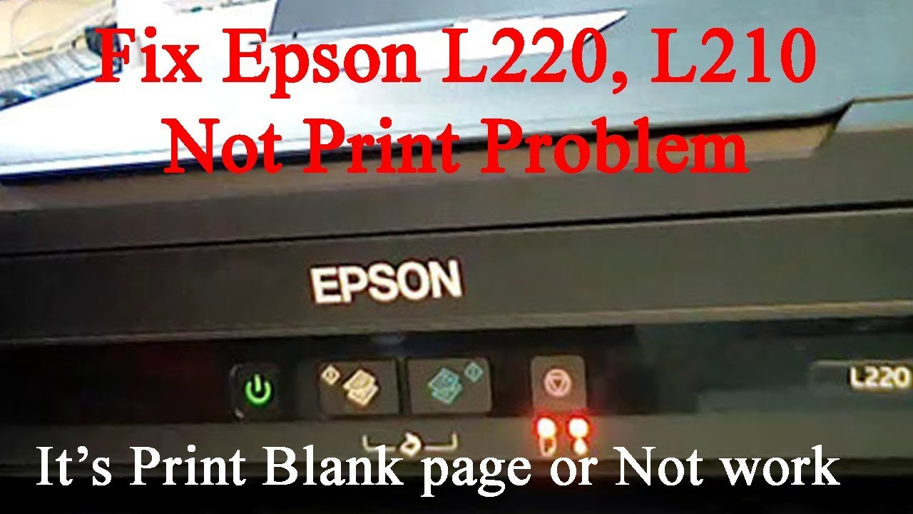 How to fix epson l220 blinking light error