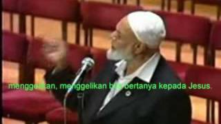 What was the religion of Jesus answered by Ahmed Deedat TEXT INDONESIA