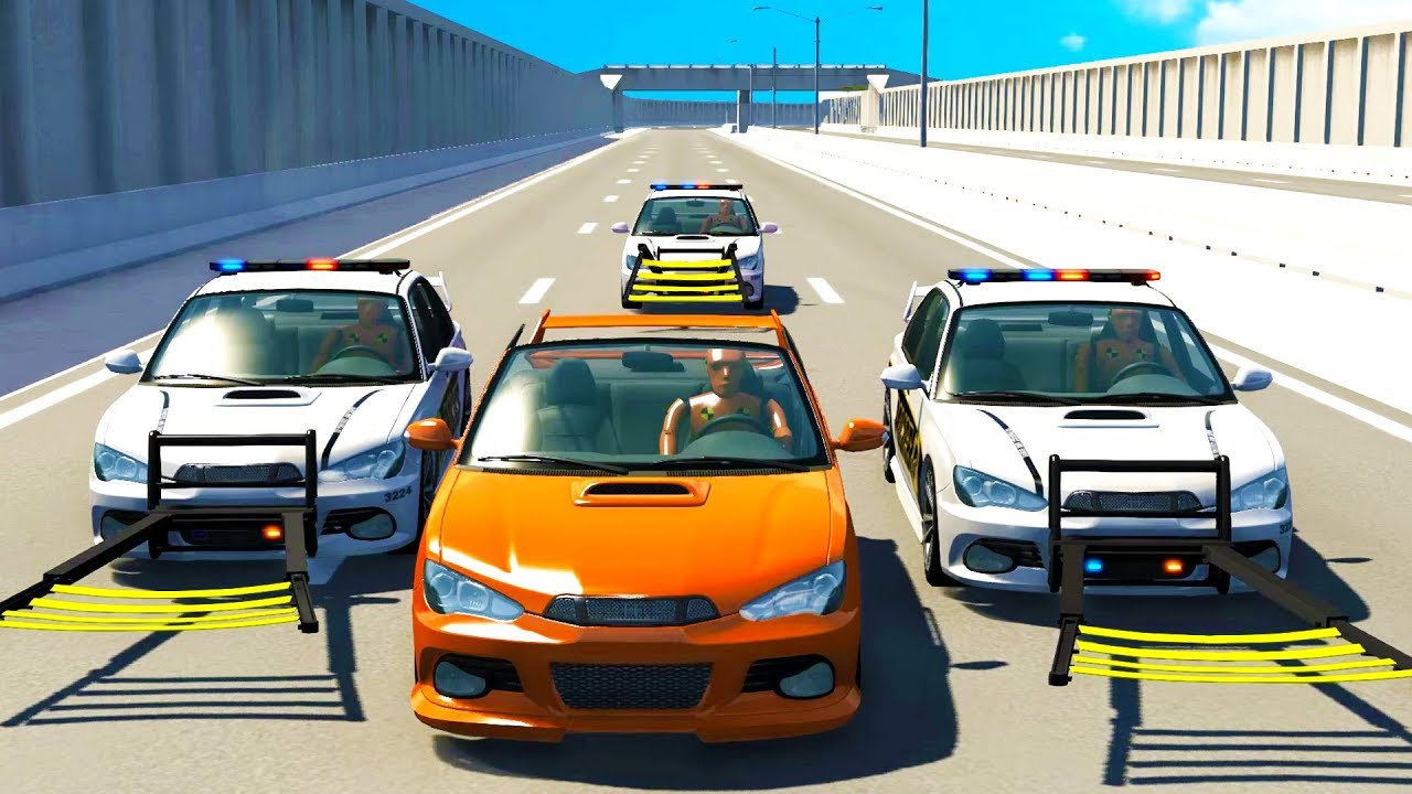Download Police High Speed Wheel Grabber Takedowns - BeamNG Drive Police Chase Compilation