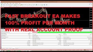 Best Forex EA 100% Profit Per Month in Real Account with Proof