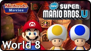 New Super Mario Bros. U: World 8 Peachs Castle (All Star Coins 100% Multiplayer Walkthrough)