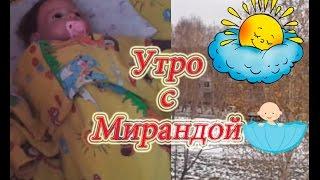Обложка на видео о Утро с Мирандой| Видео куклы реборн| Силиконовый реборн девочка|Reborn