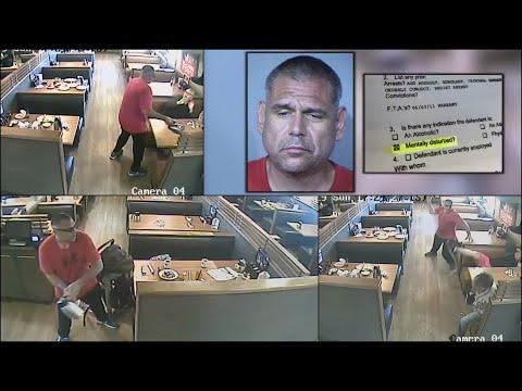Surveillance video shows homeless veteran on rampage at Phoenix IHOP