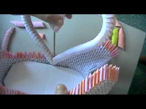 3D origami: swan loveboat part 3  YouTube