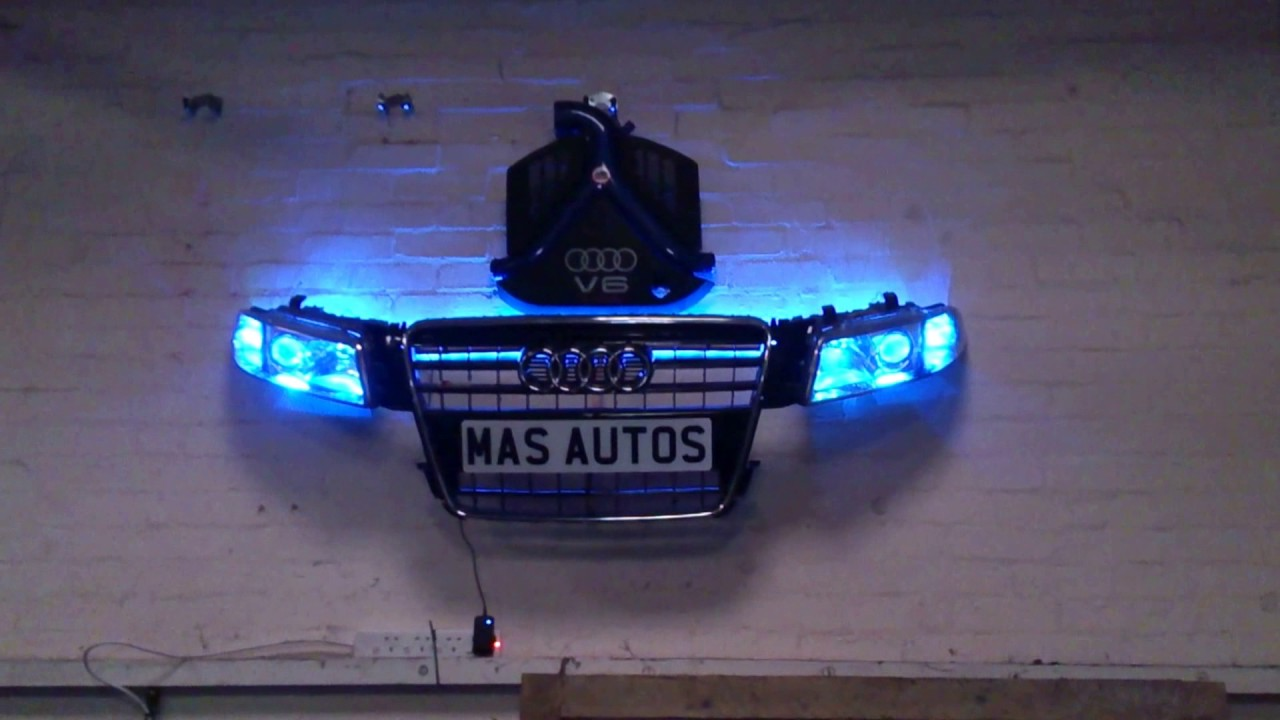 Custom LED Wall Art Made From Spare Car Parts!