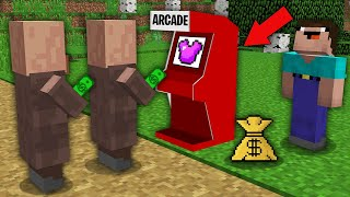 Minecraft NOOB vs PRO: HOW NOOB OPENED ACRCADE MACHINE WITH MAGIC ARMOR? Challenge 100% trolling