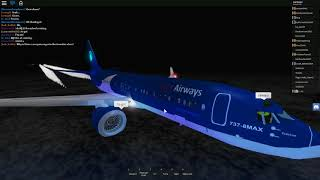 [ROBLOX] Flight on-board Aqua Airways. 737 MAX experience.
