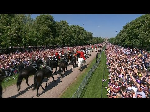 Fans from all over watch Harry marry Meghan in Windsor Castle | ITV News