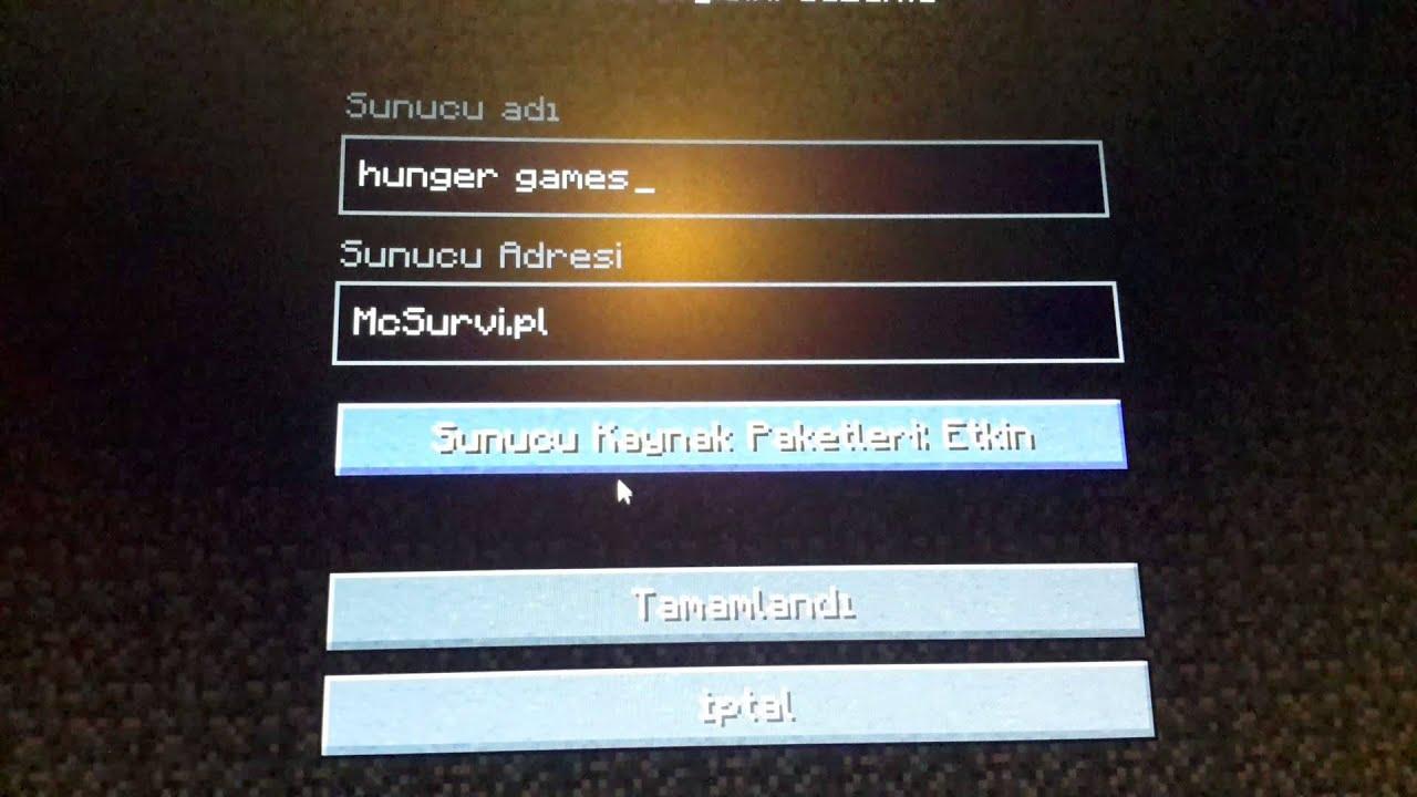 Minecraft server adları - YouTube