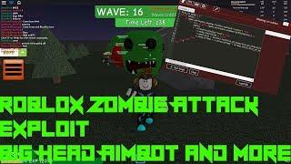 Roblox Zombie Ataque Hack / Exploit(Unpatchable)Big Head Zombies, Aimbot, Y más!
