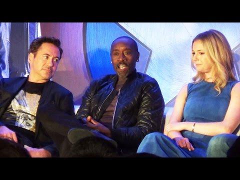 Captain America Civil War Team Iron Man Press Conference w/ Robert Downey Jr., Kevin Feige +