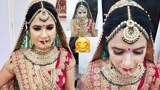real bridal makeup tutorial (step by step) in Hindi🤗👍