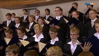 """Dresdner Kreuzchor """"Herr, unser Herrscher"""" H. Schütz Gottesdienst Kreuzkirche Dresden MDR 29.8.15"""