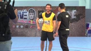 Sherif Fayed playing football with REDBULL UAE!