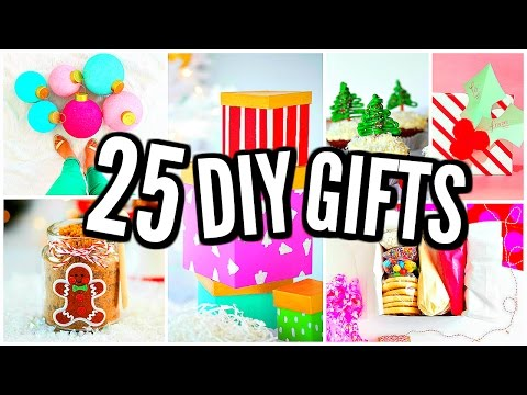 25 DIY Christmas Gift Ideas! Homemade Gifts 2016