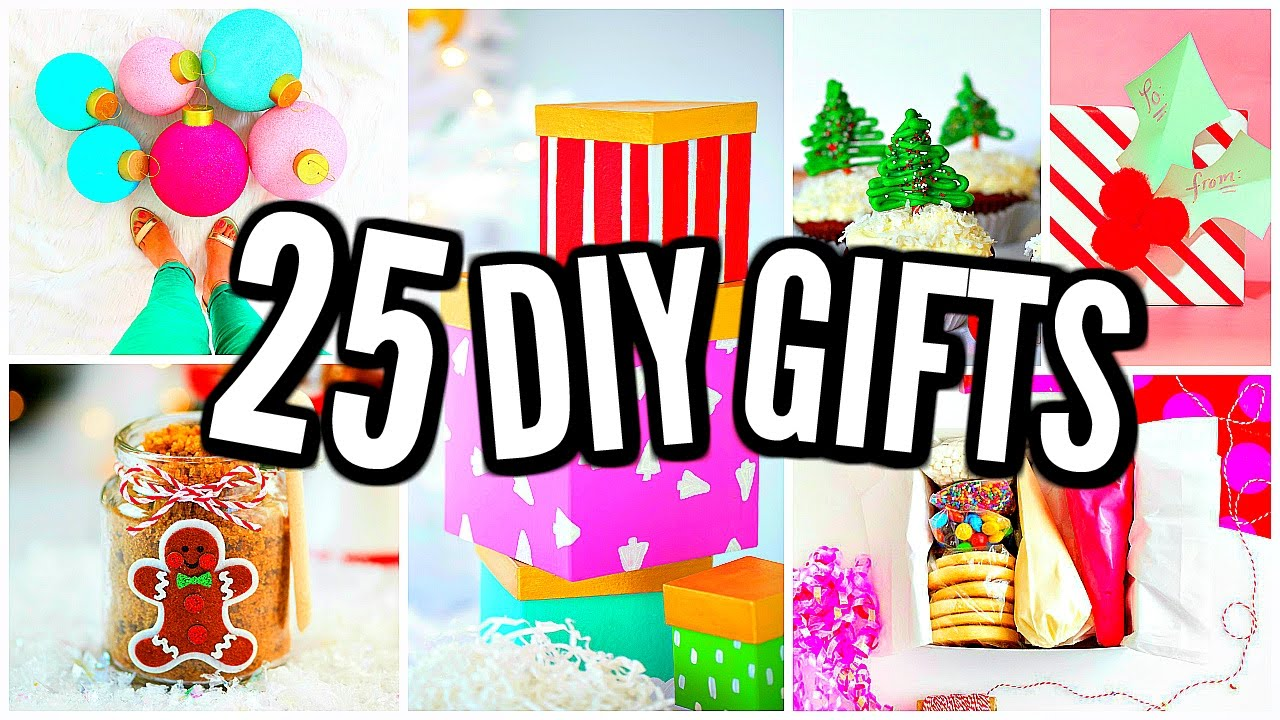 25 Diy Christmas Gift Ideas Homemade Gifts 2016 Youtube