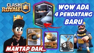 There is a CARD COMBINATION?? | REVIEW 4 NEW CARDS + APPEARANCE-Indonesia Clash Royale #44 Update
