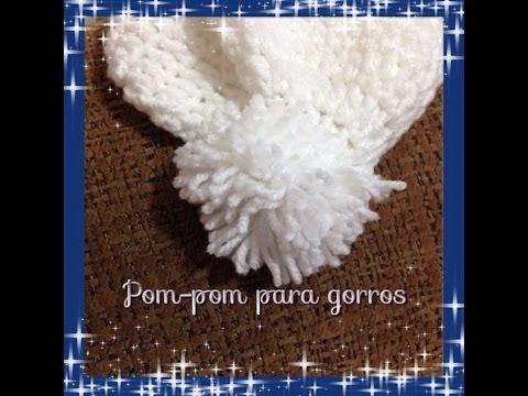 Como hacer pompones para gorros wool cap youtube - Como hacer pompones ...