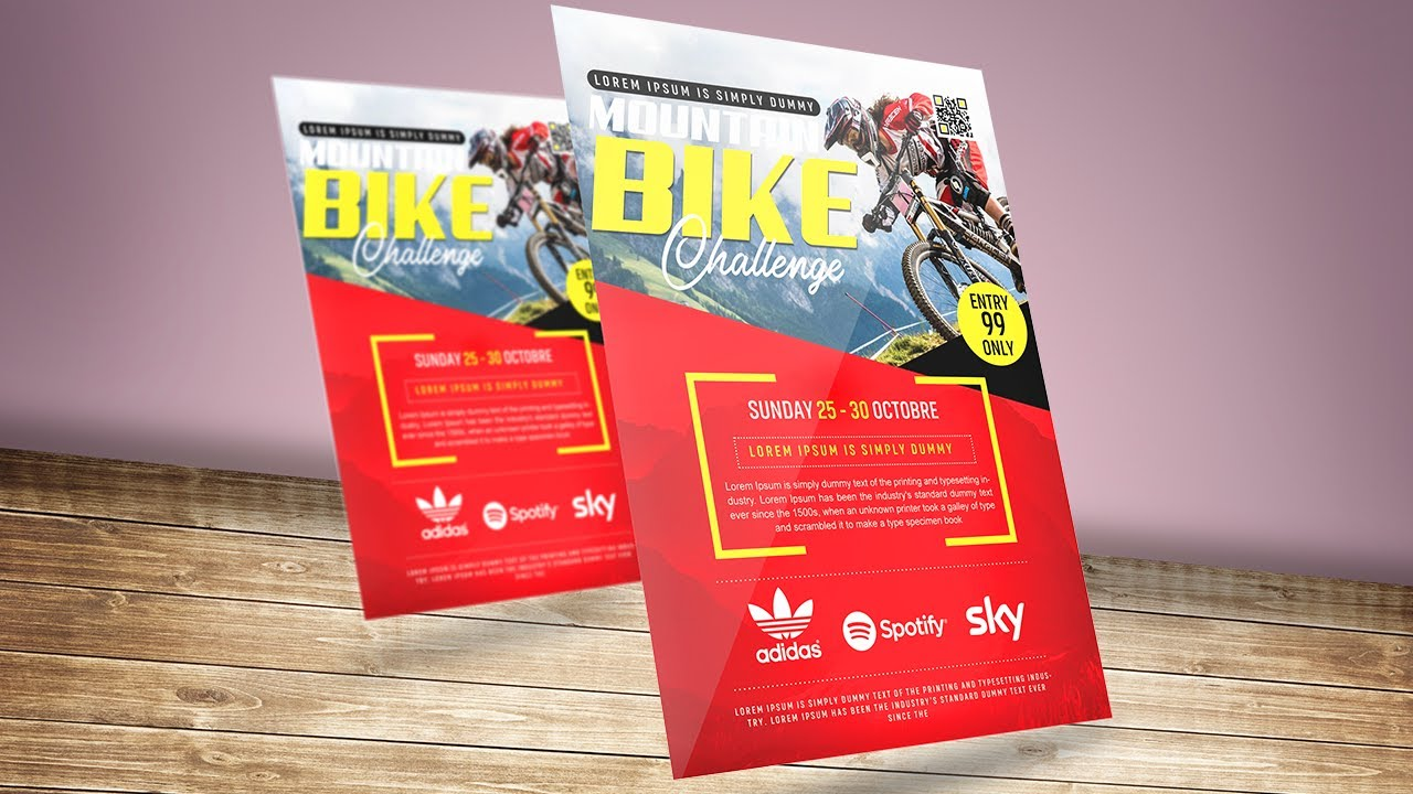 Mountain Bike Rally Event Flyer | Photoshop Tutorials