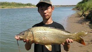 секреты рыбалки ловля дикого сазана на реке РСН _ fishing wild carp fishing on the river