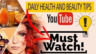 About health and beauty tips Introduction