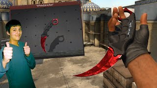 MY NEW CS GO KNIFE!!! (Inventory Showcase | Karambit Ruby Doppler)