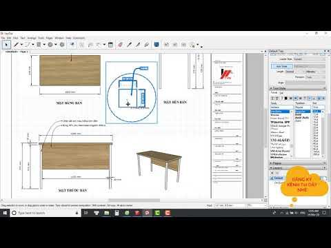 Layout sketchup #1 Deploy technical drawings for construction ||triển khai bản vẽ kỹ thuật thi công.