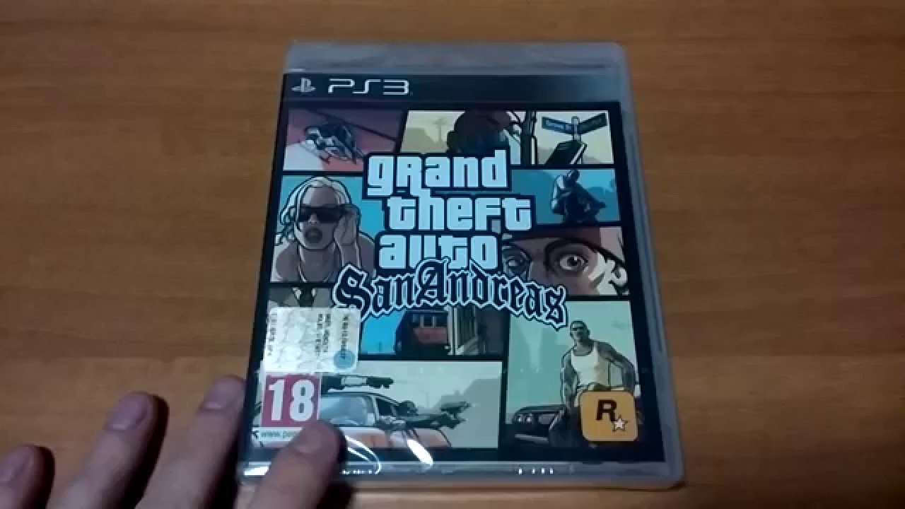 unboxing grand theft auto san andreas ps3 ita youtube. Black Bedroom Furniture Sets. Home Design Ideas