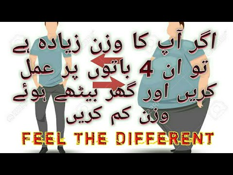 4 EASY BELLY FAT LOSE TIPS | WEIGHT LOSE TIPS FOR BEGINNERS | URDU HINDI