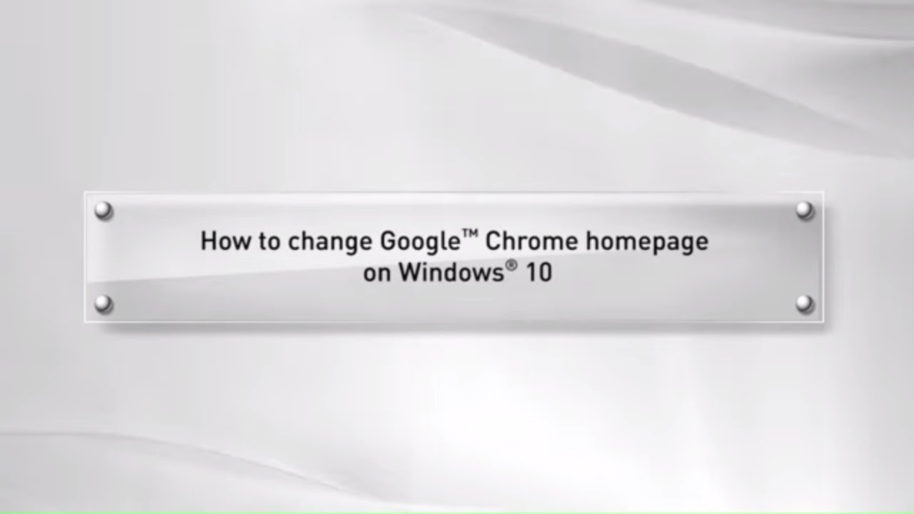 How to change google chrome homepage on windows 10 youtube how to change google chrome homepage on windows 10 ccuart Image collections