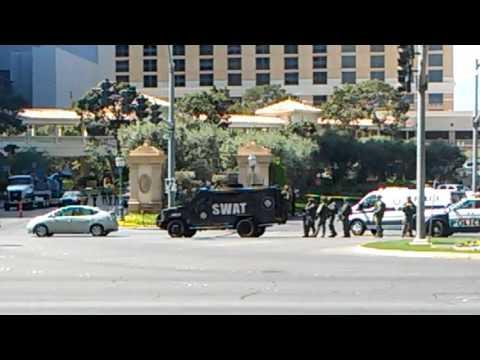 Lasvegas Metro police  swat team in a hostage situation