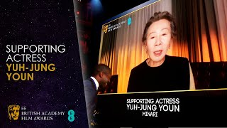 Yuh-Jung Youn's Wonderful Speech for Winning Supporting Actress for Minari | EE BAFTA Film 2021