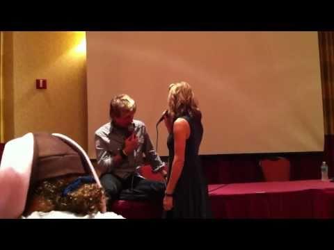 ExpCon 2010  Ali Hillis & Troy Baker  Snow VS Lightning