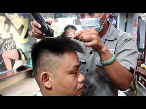 cách hớt kiểu tóc đinh vuông