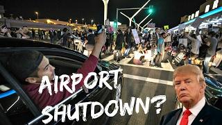 TRAVEL BAN PROTESTS AT LOS ANGELES AIRPORT
