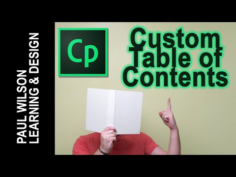 Adobe Captivate - Custom Table of Contents